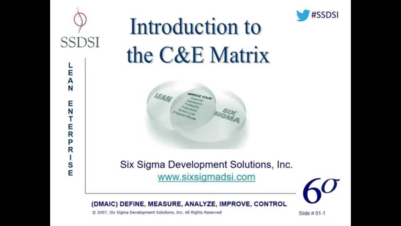 Introduction To The Ce Matrix Webinar Pre Recorded Youtube