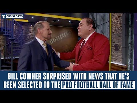 Coe Lewis - Bill Cowher Gets Surprised With News He's In The Hall of Fame