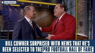 Bill Cowher gets surprised with news that he's been selected to the Pro Football Hall of Fame