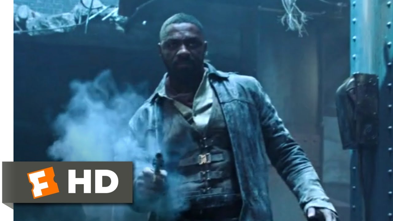 Idris Elba Films Dark Tower Scenes With Tom Taylor As Jake The Dark Tower 2017 Roland Vs The Man In Black Scene 10 10 Movieclips