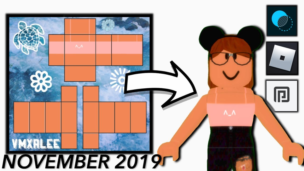 How To Make A Roblox Shirt On Mobile November 2019 Youtube