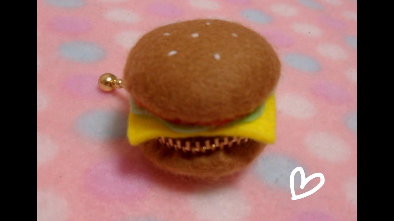 3b84ec903 DIY hamburger felt coin case tutorial - YouTube