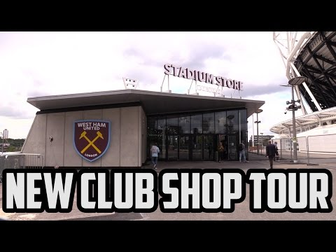 New Olympic Stadium West Ham Shop Tour