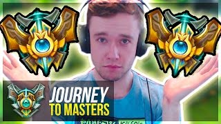 IN CHALLENGER ELO GAMES NOW?! - TRUE Climb BEGINS   Journey To Masters #35 S7 - League of Legends
