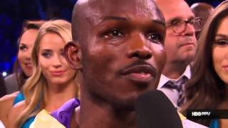 Timothy Bradley's reaction to the replay of him getting knockdown by Pacquiao