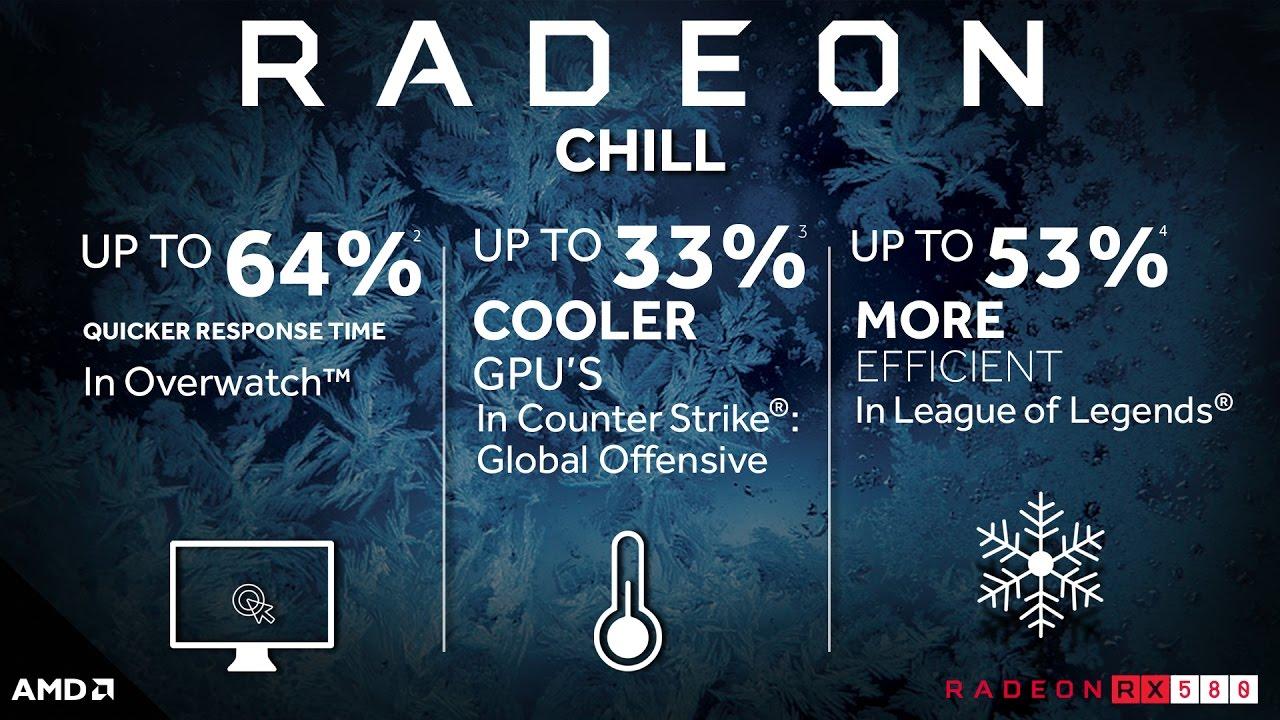 Radeon™ Chill Empowers the Radeon™ RX 500 Series