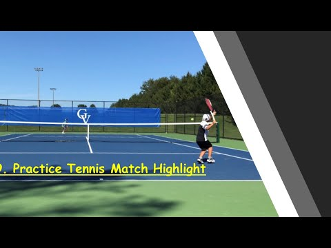 Fun practice tennis match with Keito ( Highlight) / 小学生 9歳のテニスの練習試合 ハイライト