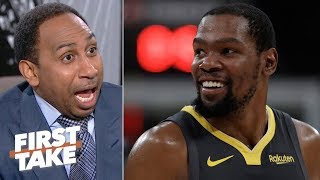 I\'ll carry his bags, clean up his locker! - Stephen A. begs for KD to join the Knicks | First Take