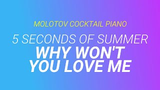 Why Won't You Love Me - 5 Seconds of Summer cover by Molotov Cocktail Piano