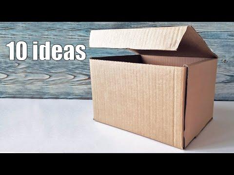Поделка из картонной коробки своими руками