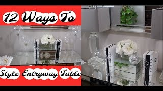 12 Ways To Decorate A Glam Entryway Table