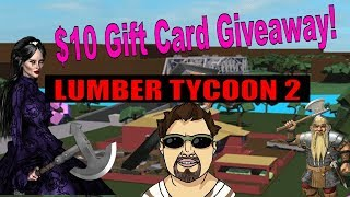 Roblox Lumber Tycoon 2 - Finishing Construction On Mansion! - $10 Gift Card Giveaway!