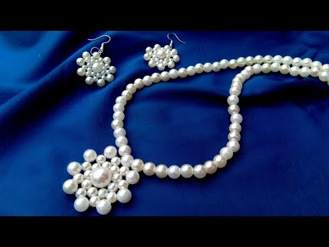 How To Make//Pearl Pendant Necklace//Tutorial// Useful & Easy