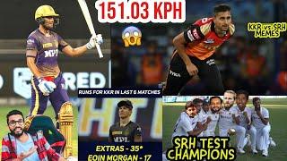 UMRAN MALIK FASTEST BALL | KKR VS SRH 2021 | S GILL 57