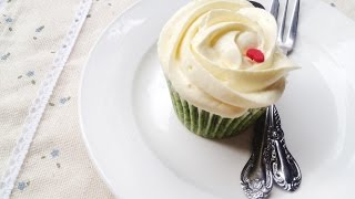 [Viet&Enlish CC] Matcha Cupcake with Creamcheese Buttercream - ChiChi Nguyễn