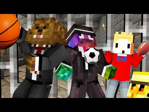 SPORTS COPS AND ROBBERS HIDE AND SEEK MOD - Minecraft Modded Minigame