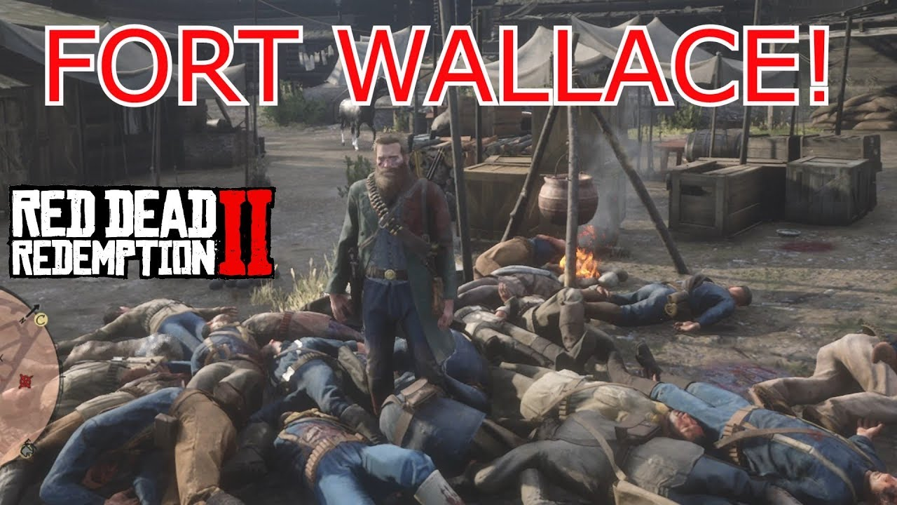 Red Dead Redemption 2 - How To Break Into FORT WALLACE & Full Tour -  Killing All Soldiers!