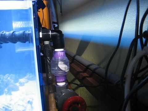 Saltwater aquarium with sump silent durso overflow for Diy bio balls