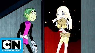 Teen Titans | Beast Boy Asks Terra Out | Cartoon Network