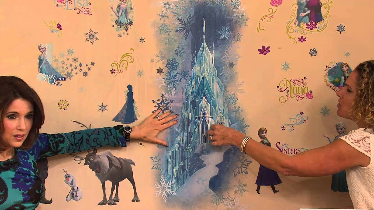 Disneyu0027s Frozen Reusable Peel U0026 Stick Wall Decal Combo Set With Sandra  Bennett   YouTube Part 94