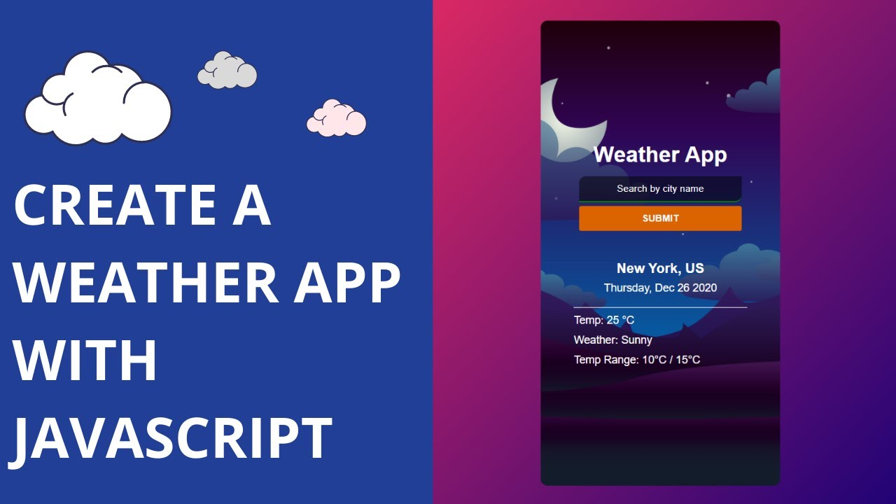 Create A Weather App With Javascript