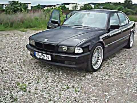 bmw e38 740i exhaust dark black alpina 20 zoll youtube. Black Bedroom Furniture Sets. Home Design Ideas
