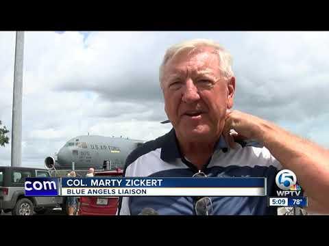 Bird in engine damages Blue Angels jet at Vero Beach Air Show