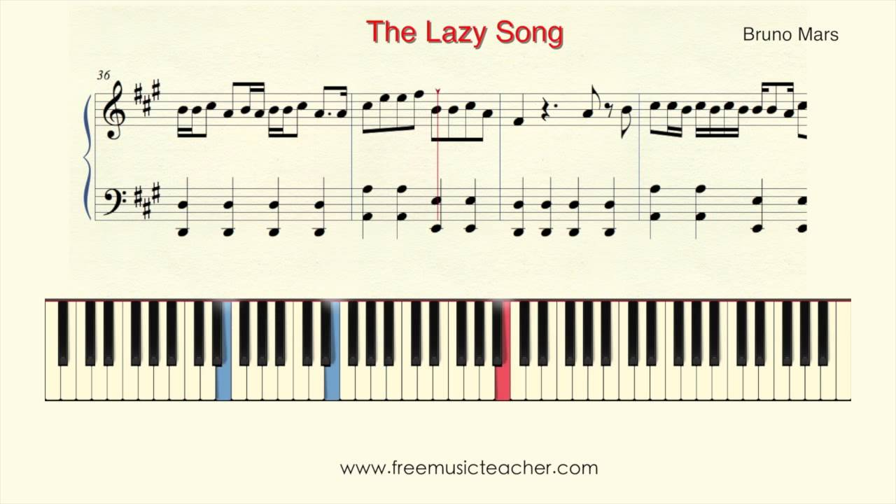 How to play piano bruno mars the lazy song piano tutorial by how to play piano bruno mars the lazy song piano tutorial by ramin yousefi hexwebz Images