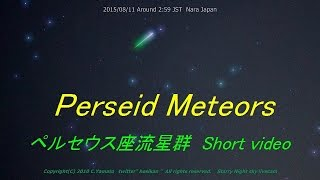 Perseids Meteor shower 2015 Starry night sky Livecam ペルセウス座流星群