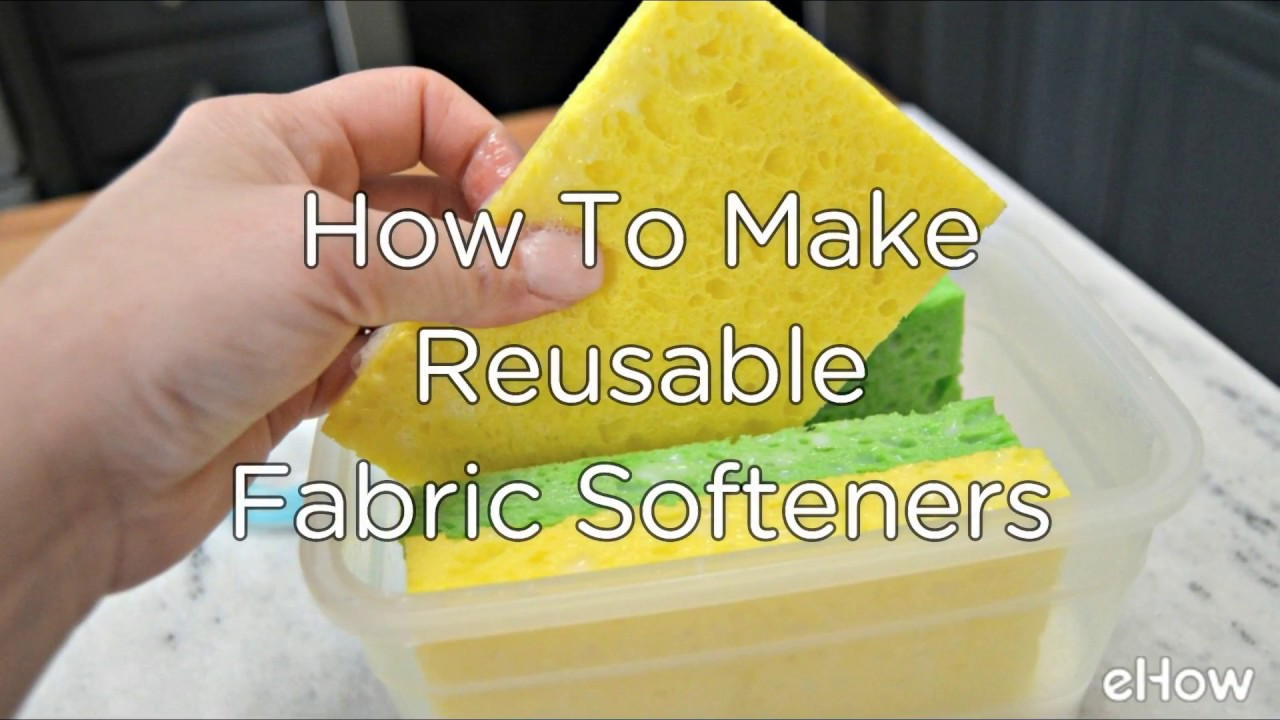 Homemade Reusable Scented Fabric Softeners