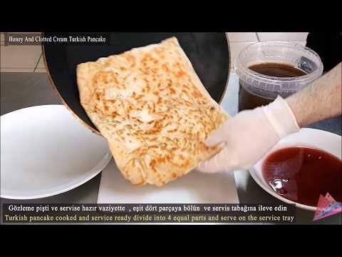 Turkish Pancake Gozleme with Honey and clotted cream Recipe