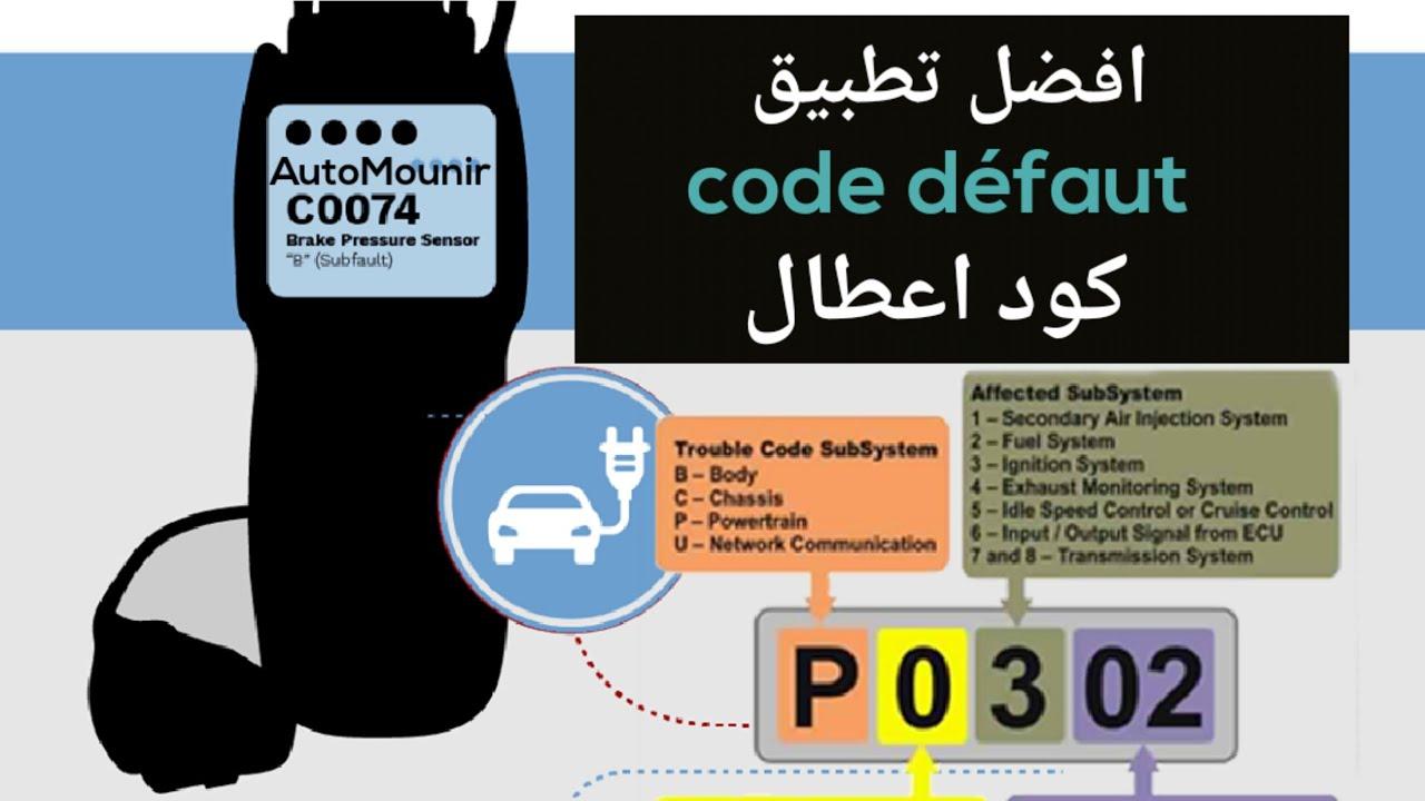 تطبيقات افضل تطبيق كود اعطال السيارات لمساعدة على اجاد مشكل بعد فحص بجهاز سكانر Code Defaut Youtube