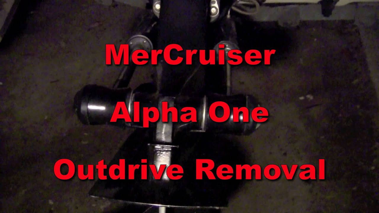 mercruiser outdrive removal and installation tips  [ 1280 x 720 Pixel ]
