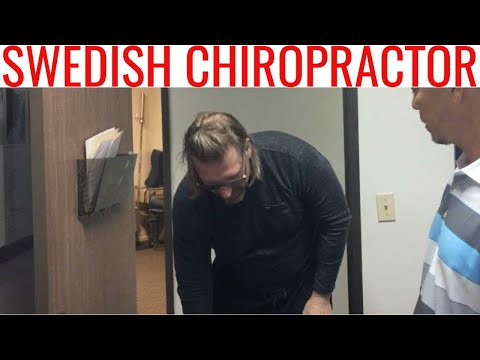 Swedish 🇸🇪 Chiropractor needs NECK adjustment for Low Back & Knee Pain