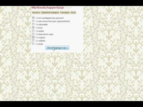 Mijnreceptenboeknl Mijnboodschappenlijstjemobi Demo Youtube