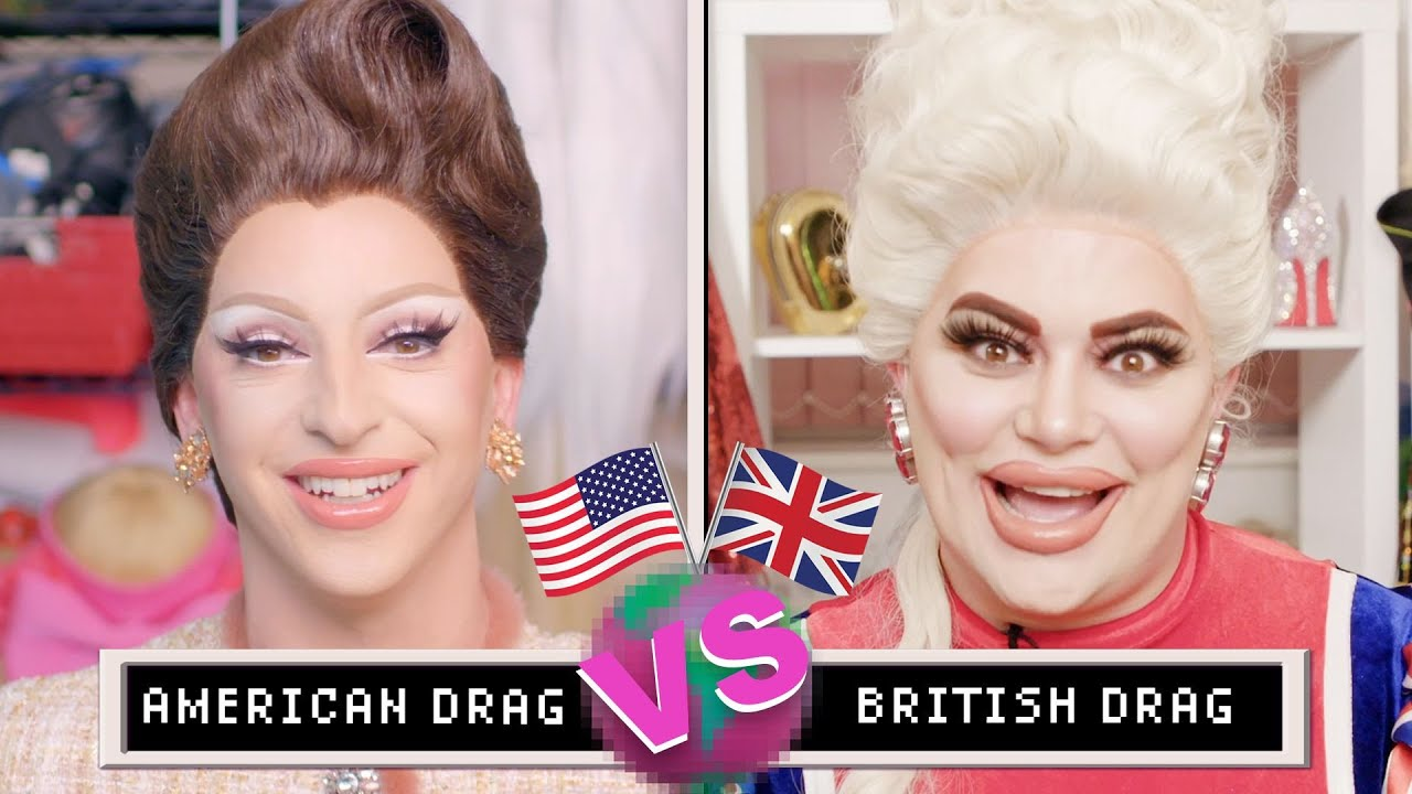 Drag Queens Miz Cracker & Baga Chipz Compare American & British Drag | them.