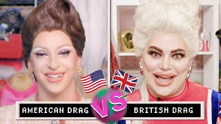 Drag Queens Miz Cracker & Baga Chipz Compare American & British Drag   Them.