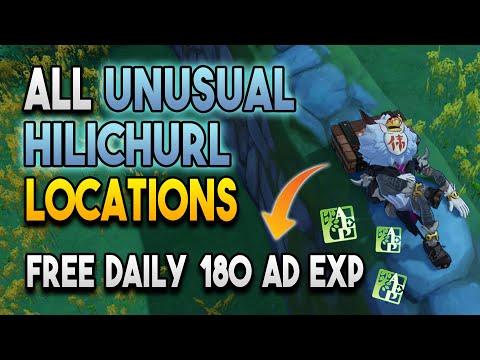 【Genshin Impact】All Unusual Hilichurl Locations - Free Daily 180 Adventure Exp - Wei Hilichurl