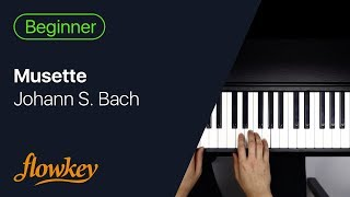 Musette – Johann S. Bach (Easy Piano Tutorial)