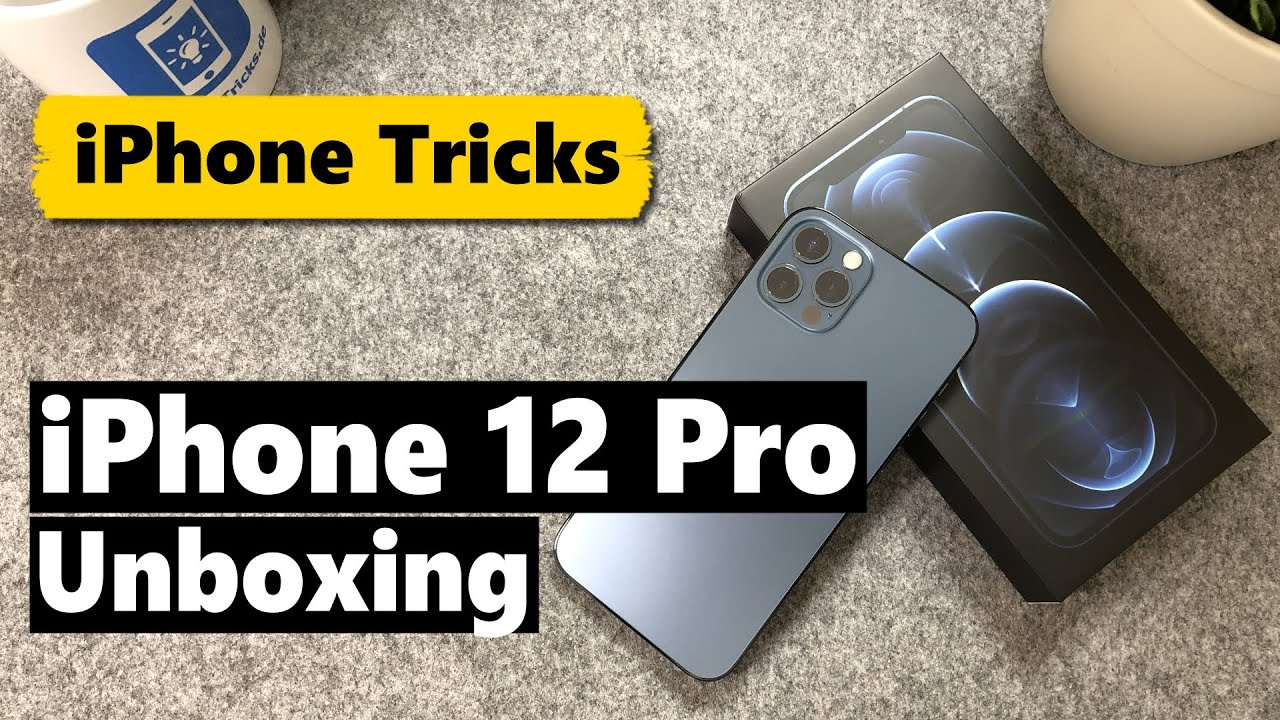 iPhone 12 Pro Unboxing in Pazifikblau (kantig, robust & edel) 🤩