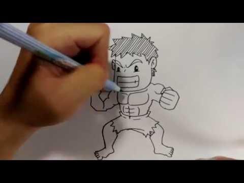 เดอะ ฮัค The Hulk ง่ายๆ | สอนวาดรูป | วาดการ์ตูน กันเถอะ