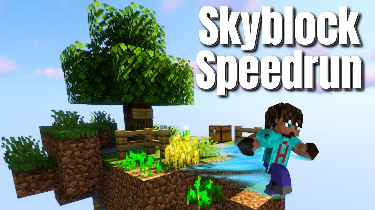 Minecraft SpeedRun in the Sky | Worlds FIRST SpeedRun in Minecraft Skyblock (S1 - 2021)