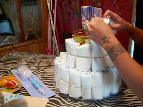 Diy How To Diaper Cake Gifts For Baby Showers Step By Setp Tutorial    YouTube