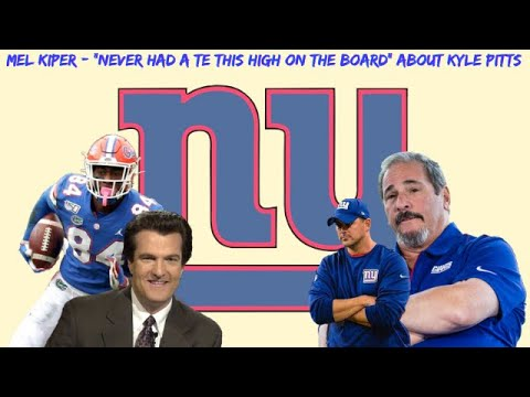 """New York Giants   Mel Kiper """"Never Had A TE This High On The Board"""" About Kyle Pitts Giants NEED Him"""