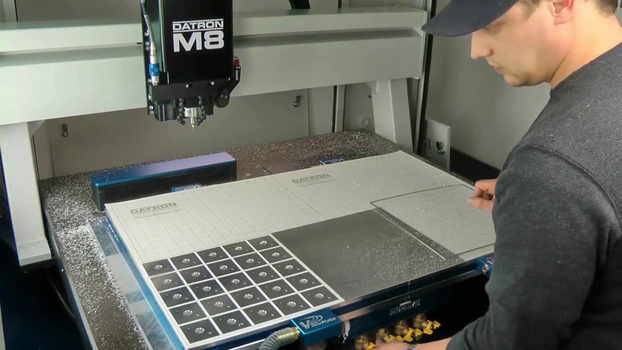 Machining Sheet Material Using Vacuum Table Workholding