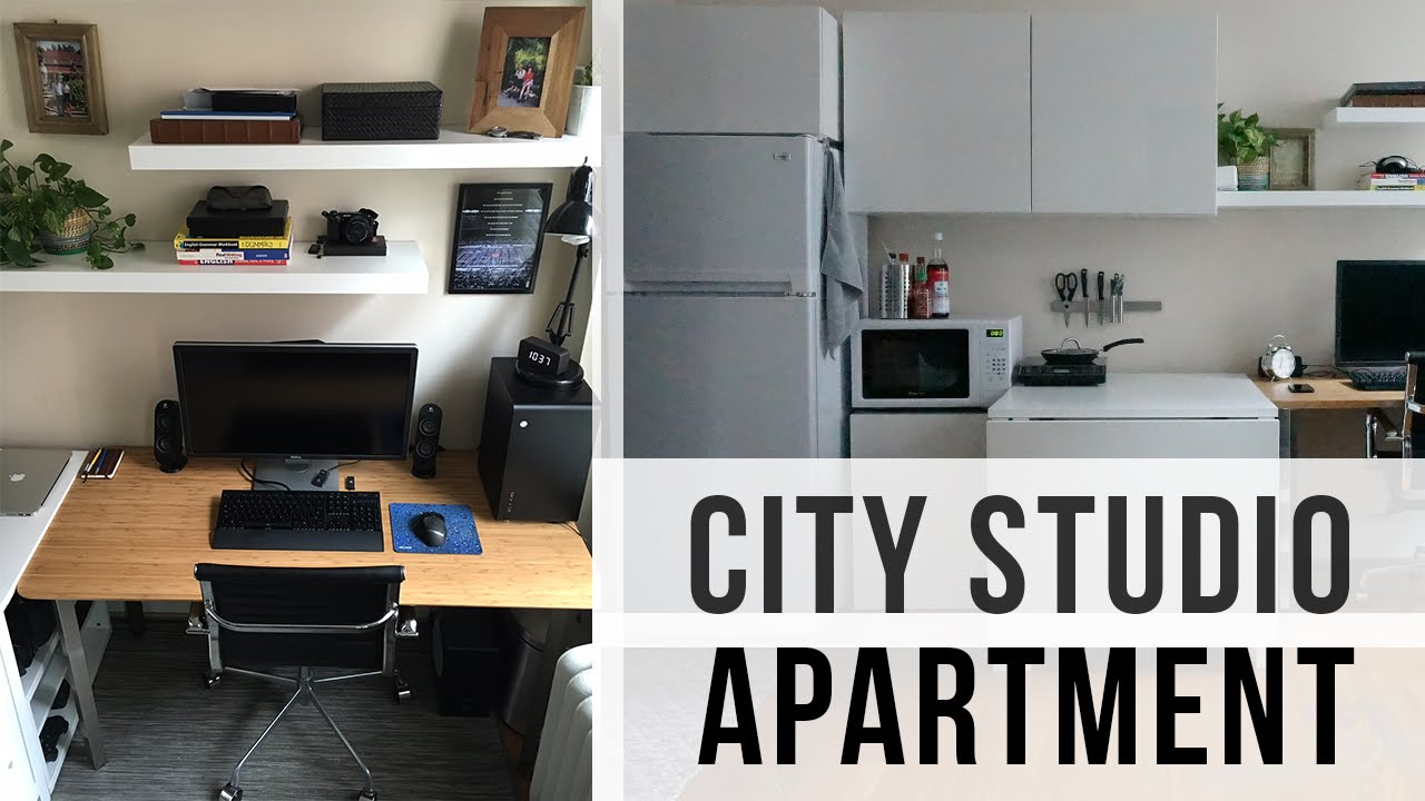 Studio Apartment Tour city studio apartment tour (240 sq. feet - $500 rent) - youtube