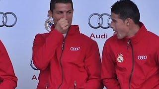 Cristiano habla con James Rodríguez de los pelos de la nariz