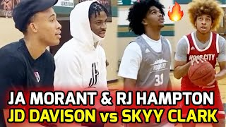 Ja Morant & RJ Hampton Watch JD Davison & Skyy Clark BATTLE! Two Of The BEST GUARDS In The Nation 🍿