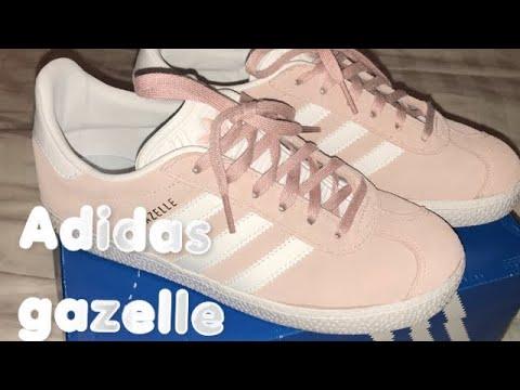 My pink Adidas Gazelle size 4 big girls size