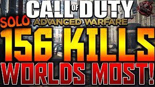 COD Advanced Warfare - SOLO 156 KILLS - WORLDS MOST KILLS! (COD AW 150+ Kills Gameplay)